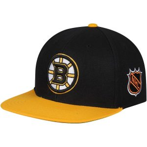 American Needle Boston Bruins Black/Gold Blockhead Snapback Adjustable Hat