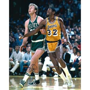 Autographed Boston Celtics Larry Bird Fanatics Authentic 16″ x 20″ Rebound vs. Magic Johnson Photograph