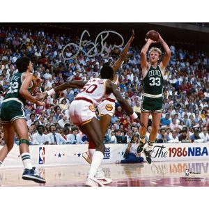 Autographed Boston Celtics Larry Bird Fanatics Authentic 8″ x 10″ 1986 NBA Finals Photograph