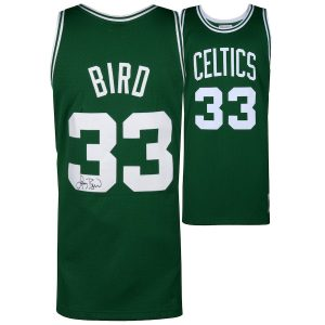 Autographed Boston Celtics Larry Bird Fanatics Authentic Green Mitchell & Ness Swingman Jersey