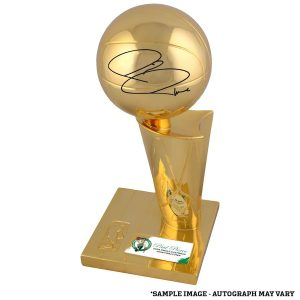 Autographed Boston Celtics Paul Pierce Fanatics Authentic 12″ 2008 NBA Finals Champions Replica Trophy