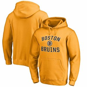 Boston Bruins Gold Victory Arch Fleece Pullover Hoodie