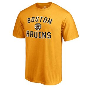 Boston Bruins Gold Victory Arch T-Shirt