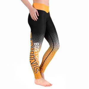 Boston Bruins Women's Gradient Print Leggings – Black