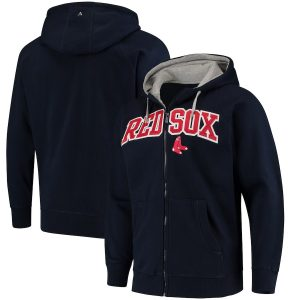 Boston Red Sox Antigua Team Victory Full-Zip Hoodie – Navy
