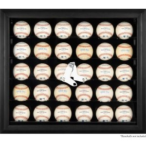 Boston Red Sox Fanatics Authentic (2009 – Present) Logo Black Framed 30-Ball Display Case