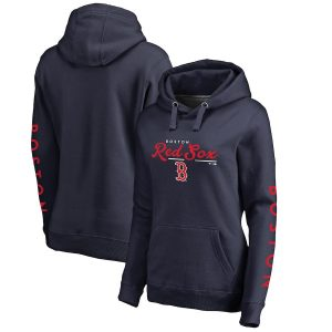Boston Red Sox Fanatics Branded Women's High Class Pullover Hoodie – Navy