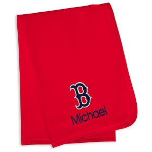 Boston Red Sox Infant Personalized Blanket – Red