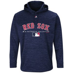 Boston Red Sox Majestic Authentic Collection Team Drive Ultra-Streak Fleece Pullover Hoodie – Navy