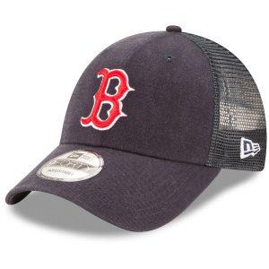 Boston Red Sox New Era Trucker 9FORTY Adjustable Snapback Hat – Navy