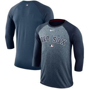 Boston Red Sox Nike Authentic Collection Legend 3/4-Sleeve Raglan Performance T-Shirt – Navy