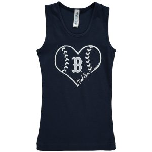 Boston Red Sox Soft as a Grape Girls Youth Cotton Tank Top – Navy