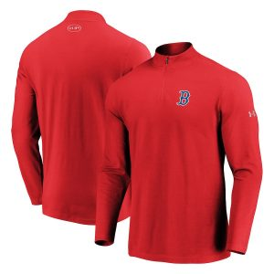 Boston Red Sox Under Armour Passion Performance Tri-Blend Quarter-Zip Pullover Jacket – Red