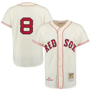 Carl Yastrzemski Boston Red Sox Mitchell & Ness Authentic Jersey – Cream