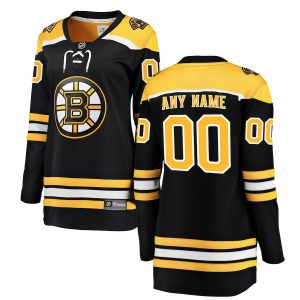 Fanatics Branded Boston Bruins Women's Black Home Breakaway Custom Jersey