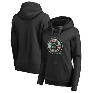Ships Free Fanatics Branded Boston Bruins Women's Black Lovely Pullover Hoodie