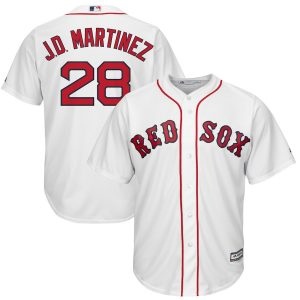 JD Martinez Boston Red Sox Majestic Official Cool Base Player Jersey – White