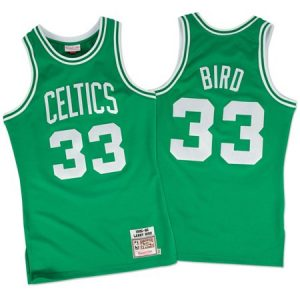 Larry Bird 1985-86 Boston Celtics Mitchell & Ness Authentic Green Road Jersey