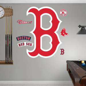 MLB Boston Red Sox B RealBig Logo Fathead Wall Graphic