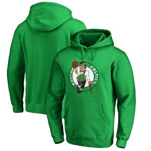 Men's Boston Celtics Fanatics Branded Kelly Green Primary Logo Pullover Hoodie