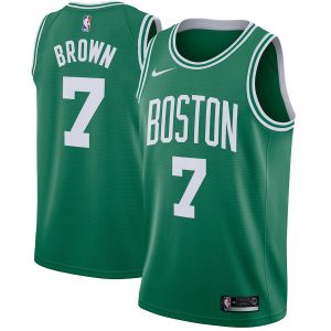 Men's Boston Celtics Jaylen Brown Nike Green Swingman Jersey – Icon Edition