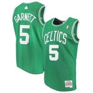 Men's Boston Celtics Kevin Garnett Mitchell & Ness Kelly Green 2007-08 Hardwood Classics Swingman Jersey