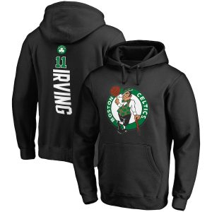 Men's Boston Celtics Kyrie Irving Fanatics Branded Black Backer Name & Number Pullover Hoodie