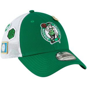 Men's Boston Celtics New Era 2018 Kelly Green Draft 39THIRTY Fitted Hat