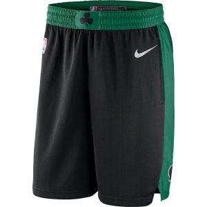 Men's Boston Celtics Fanatics Branded Black/Kelly Green Replica Shorts