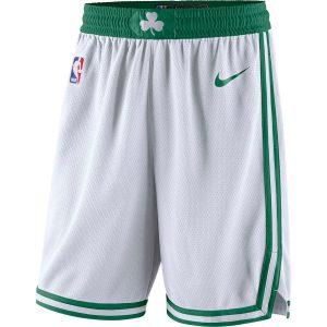 Men's Boston Celtics Nike White 2018/19 Association Edition Swingman Shorts