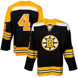 Mitchell & Ness Bobby Orr Boston Bruins Black Throwback Authentic Vintage Jersey