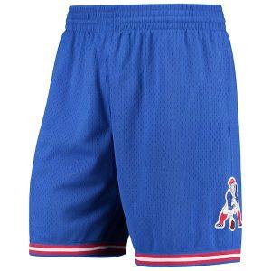 Mitchell & Ness New England Patriots Royal Retro Mesh Shorts