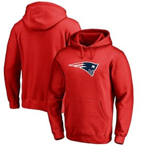 NFL Pro Line New England Patriots Red Primary Logo Hoodie