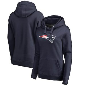 NFL Pro Line New England Patriots Women's Navy Primary Logo Pullover Hoodie