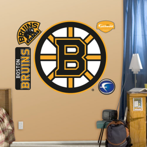 NHL Logo Vinyl Wall Graphic Set – Boston Bruins Logo
