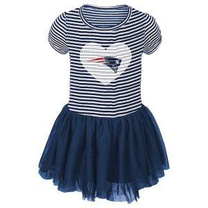New England Patriots Girls Infant Navy Celebration Tutu Sequins Dress
