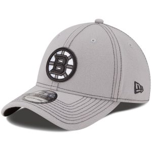 New Era Boston Bruins Gray Shader Classic 39THIRTY Flex Hat