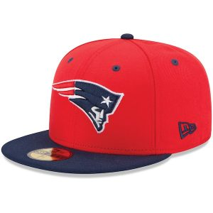 New Era New England Patriots 2Tone 59FIFTY Fitted Hat – Red