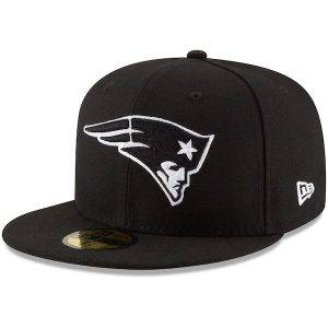 New Era New England Patriots Black B-Dub 59FIFTY Fitted Hat