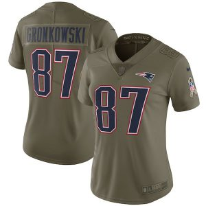 Nike Rob Gronkowski New England Patriots Women's Olive Salute to Service Limited Jersey