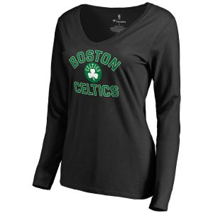 Women's Boston Celtics Black Overtime Long Sleeve T-Shirt