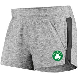 Women's Boston Celtics Fanatics Branded Heathered Black Made to Move Shorts