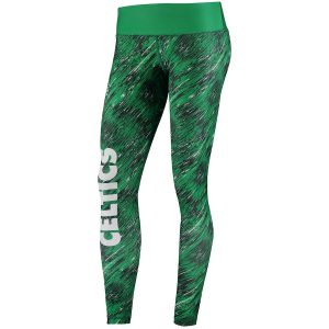 Women's Boston Celtics Green Static Rain Leggings