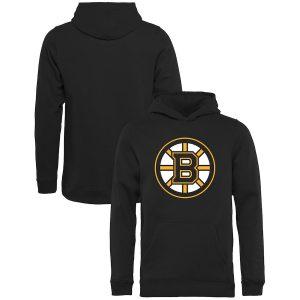 Youth Boston Bruins Rinkside Black Primary Logo Pullover Hoodie
