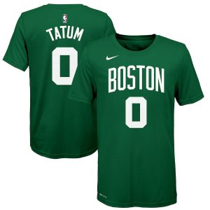 Youth Boston Celtics Jayson Tatum Nike Green Name & Number T-Shirt
