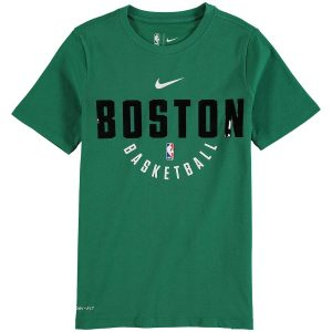 Youth Boston Celtics Nike Kelly Green Elite Practice Performance T-Shirt