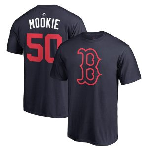 """Mookie Betts """"Mookie"""" Boston Red Sox Majestic 2018 Players' Weekend Name & Number T-Shirt – Navy"""