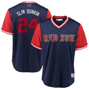 "David Price ""Slim Dunkin"" Boston Red Sox Majestic 2018 Players' Weekend Cool Base Jersey – Navy/Red"