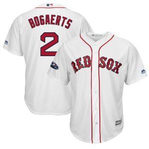 Xander Bogaerts Boston Red Sox Majestic 2018 Postseason Home Cool Base Player Jersey – White