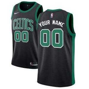 Boston Celtics Nike Swingman Custom Jersey Black – Statement Edition